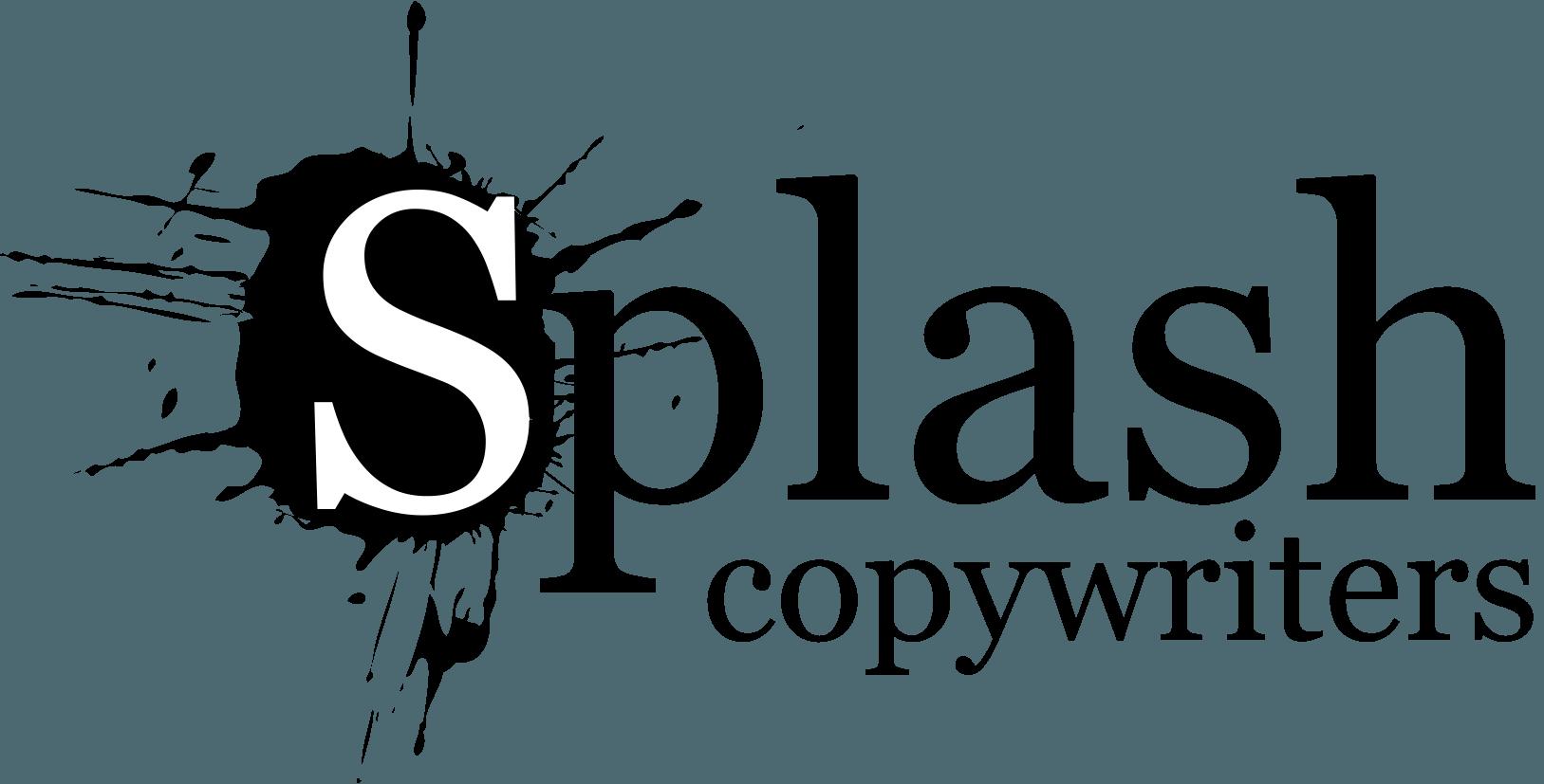 A dark version of the Splash Copywriters logo