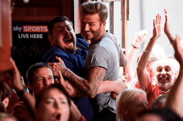 David Beckham and Sky Sports