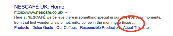 Nescafe's meta description